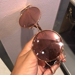 NWT - Pink Sunglasses Mirrored w/ Round Frame